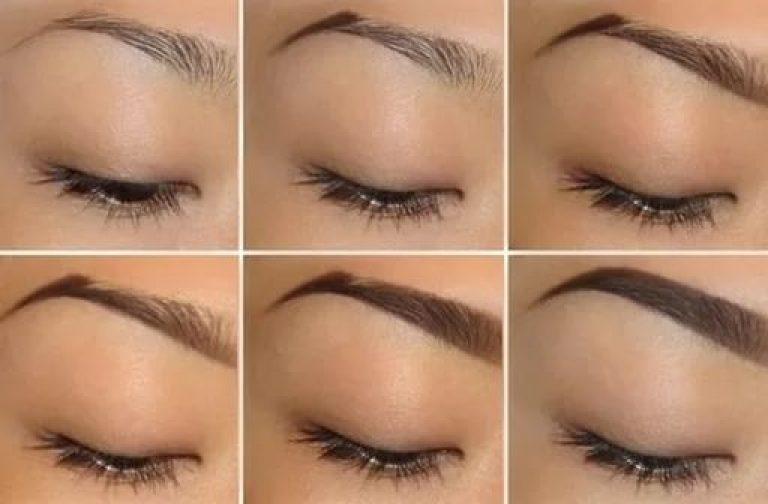 Как правильно накрасить брови карандашом фото пошагово